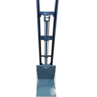 LIFT FOR GOODS WITH GUIDE RAILS